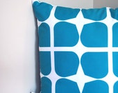Teal Gem Cushion - a retro style pattern in deep teal