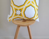 Yellow Spirit Cushion Cover- A geometric pattern in yellow and black
