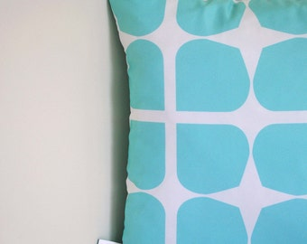 Pale Aqua Gem Cushion Cover