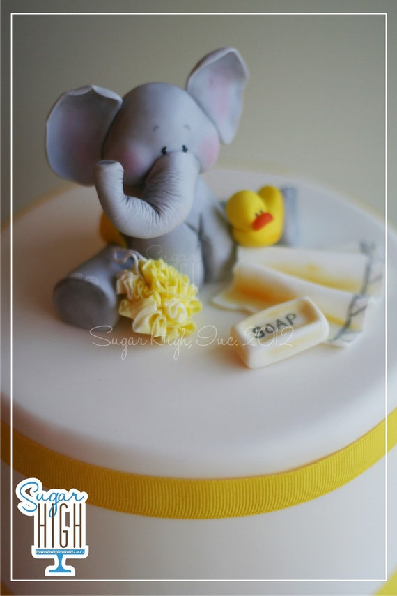 to fondant elephant baby shower cake topper accessories on etsy