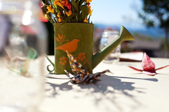Rustic Watering Can Centerpiece