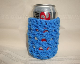 Medium Blue Soda Can and Bottle Cozy