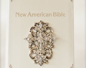 Embellished St. Joseph's Edition Bible (White Leather) LIMITED TIME