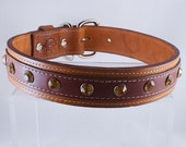 Hand Crafted Premium Leather Couture Large Dog Collar