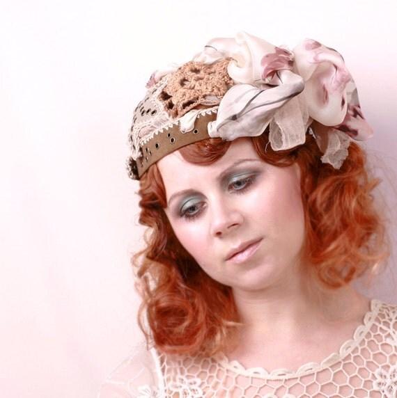 Woman hat Boho hat Bohemian Wedding hat Bridal cap Woman Crochet hat Wedding cap Woman cap Bohemian hat Artist hat Festival hat SALE