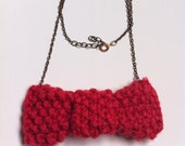 Pretty Pink Bow Tie Necklace