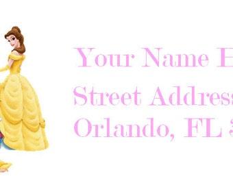Disney Princess Address Labels