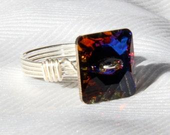 Swarovski Crystal Button Ring
