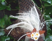 Woodcock wing fascinator - Astors & Amber. Hand prepared and handcrafted.  Be Spirited: Be Deadly
