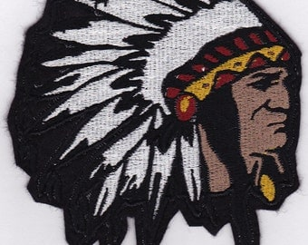 """4.5"""" Big Chief Embroidery Applique Patch"""