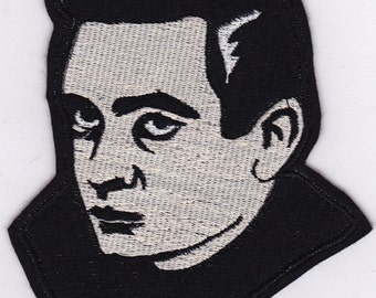 "5"" Johnny Cash Embroidery Applique Patch"
