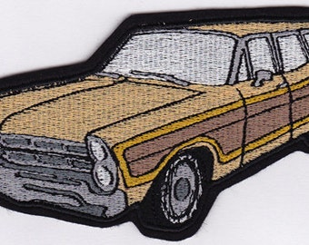 Country Squire Station Wagon  Embroidery Applique Patch