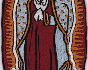 """7"""" Virgin of Guadalupe Embroidery Applique Patch"""