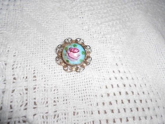 cloisonne pin brooch flower pin