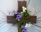 Rustic Spring/Easter Cross