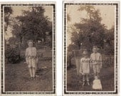 Two Vintage Photos Creepy Children