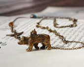 A Bird, Bear and Branch Necklace - I'll be Your Bird