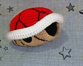 Crochet Mario Red turtle shell