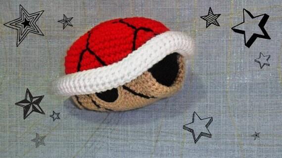 Crochet Mario Red turtle shell