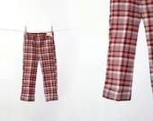 vintage kids pants / plaid pants / little leggs / size 6
