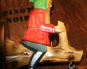 Carved Gnome Wall Hook