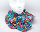 Cozy Crocheted Fall Scarf in Bright Colors