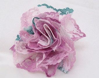 Pink Lace Ribbon Rose