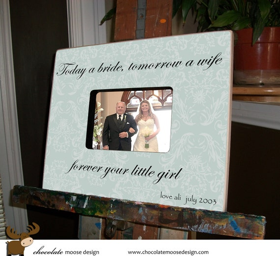 Father of the Bride Personalized Wedding Gift Custom Picture Frame ...