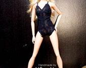 Barbie cloth :Black Lingeries bodysuit