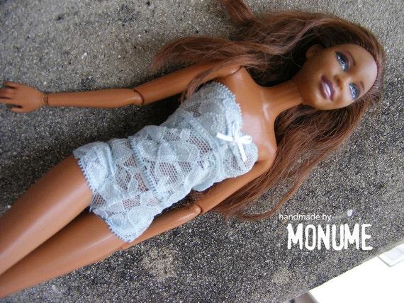 Barbie cloth : light blue Lingerie Set by Monume on Etsy