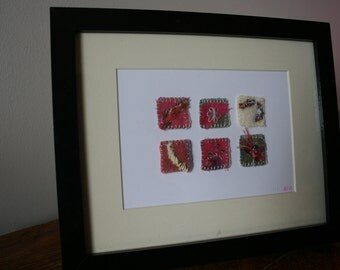 Pink and Silver  Mini Embroideries