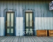 Country Rustic Photography - Bathroom Doors -  8x10 prints. Train station bathroom doors in Old Sacramento. Free Shipping (US)