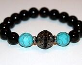 Sale On Beaded Stretch Black Onyx Turquoise Bracelet Stacking Bracelet  Mix & Match Bracelets Friendship Bracelets