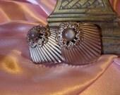 Earrings 1980s Purple Stone Jewelry