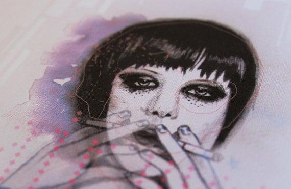 Alice Glass Smoking -  A4 Print