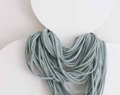 tangle - long pale turquoise/mint infinity scarf/necklace