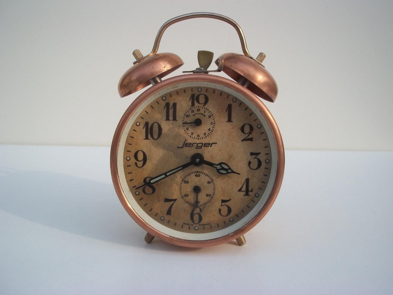 Antique alarm clock rare copper alarm clock retro home decor - Antique clock designs for your home ...