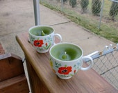 Set 0f 2 - Recycled teacup Candles