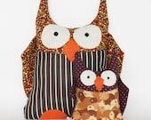Plush Stuffed Animal, OWL: Handmade Pillow with Aromatherapy benefits