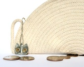 Cotton Cord Purse, White Handbag, Zippered Pouch, Made to order