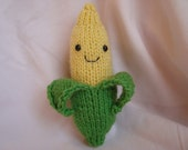 FREE SHIPPING (in the US) Knitted Amigurumi Corn Cob