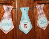 Printable High Chair Banner - Little Man Party Collection