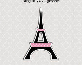 Large Printable Eiffel Tower Graphic Cut Out   - Summer In Paris Party Collection