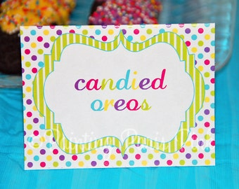 Printable Buffet Cards - Carnival Ride Party Collection