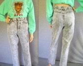 80s Jeans / 80s Acid Washed Jeans 80s Jordache Jeans / 80s High Waisted Jeans / 80s High Waist Jeans / Black and White Jeans