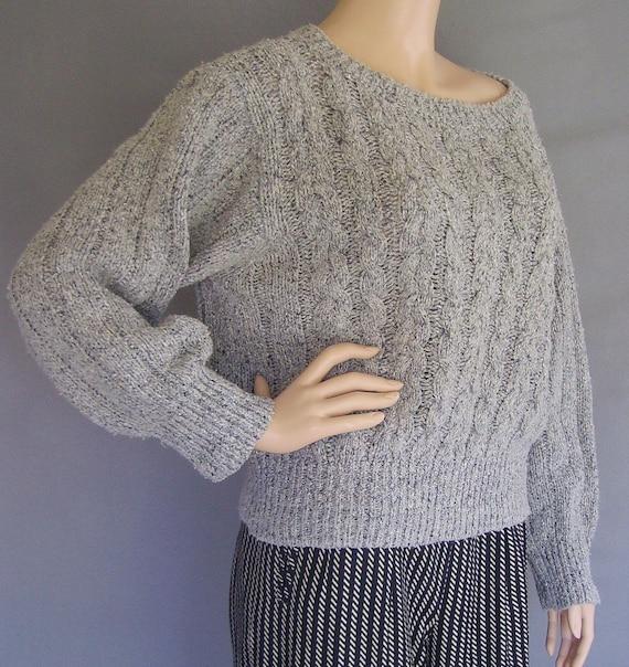 Vintage Sweater / Vintage Liz Claiborne Sweater / 80s Cable Knit Sweater/ Slouchy Sweater / 80s Sweater / Boho Sweater / Preppy Sweater