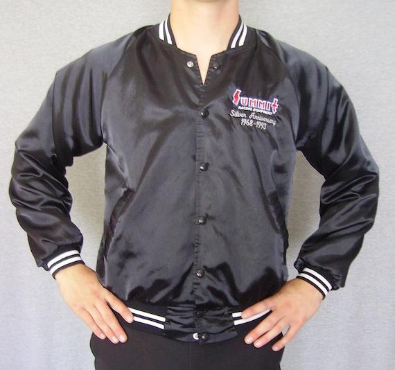 Vintage Satin Jacket / 90s Satin Jacket / Mens Jacket / 90s Jacket / Vintage Jacket