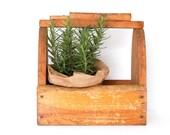 Rustic Wood Caddy-Planter-Storage box- Vintage Shoe Shine Box