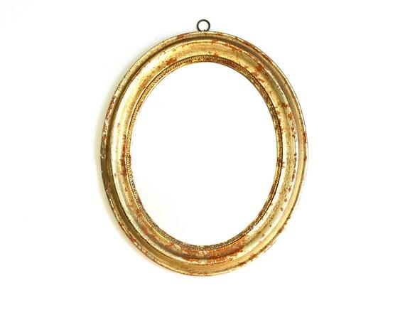 Antique Italian Borghese Gold Oval Mirror