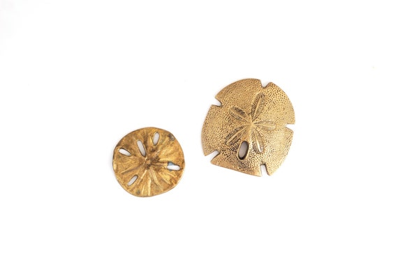 Set of Two Brass Sand Dollars